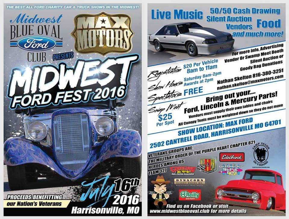 Midwest fordfest july 16th in kansas city ford mustang forum for Max motors ford harrisonville mo