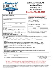 2017 EUREKA SPRINGS Registration